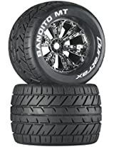 Duratrax Bandito MT 3.8 Mounted 1/2 Offset Tyre (Set of 2), Chrome