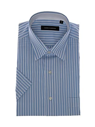 Pierre Clarence Camisa de manga corta (Azul/Blanco)