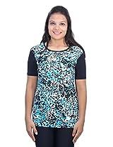 Romano Women's Multi-Coloured Swimwear Lycra T-Shirt