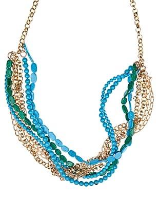 Cortefiel Collar Trenzado (Azul)