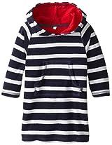 Jojo Maman Bebe Baby Boys Toweling Hooded Pull On, Navy White Stripe, 12 24 Months