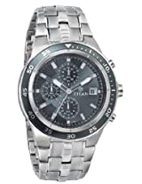 Titan Octane Chronograph Black Dial Men's Watch - NE9466KM01J