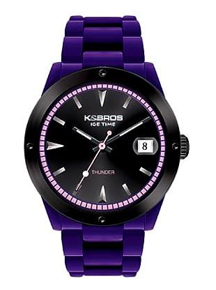 K&BROS 9556-6 / Reloj Unisex  con correa de caucho Morado