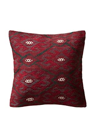 Decorative Stripe Pillow Case, Maroon