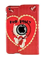 LiViTech(TM) Hello Kitty Design 360 Degree Rotating PU Leather Hard Case for Apple iPad 4 3 2 iPad Mini (iPad Mini Color 2)