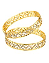 Mahi daily wear Gold Plated Effulgent Bangles with CZ for Women BA1105032G