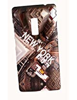 Protective Printed Back cover for One Plus Two ( 1+ 2 ). Print Collection: New YorkWith Print Embossed Effect