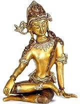 Vedic God Indra - Brass Statue