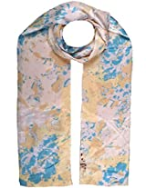 Shopatplaces Cashmere Stole In Cream, Blue & Pink