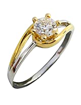 0.31ct Diamond Two Tone Solitaire Ring