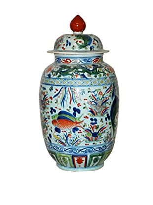 Dessau Home Porcelain Fish Jar (Multi)