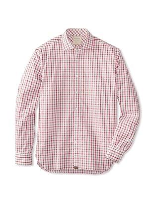 Billy Reid Men's John T Woven Shirt (Tan/Red)