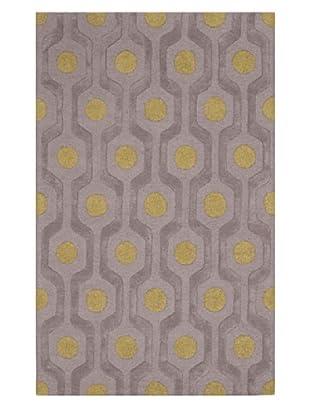 Dalyn Tones Geometric Wool Rug, Pewter (Pewter)
