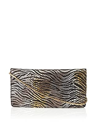 Inge Christopher Women's Portia Animal Print Flap Clutch, Black/Multi