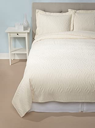 Peacock Alley Sardinia Matelassé Coverlet Set (Ivory)