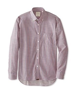 Billy Reid Men's Nelian Woven Shirt (Blue/Red)