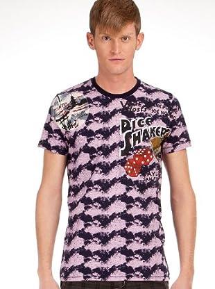 Custo Camiseta (Rosa / Azul)