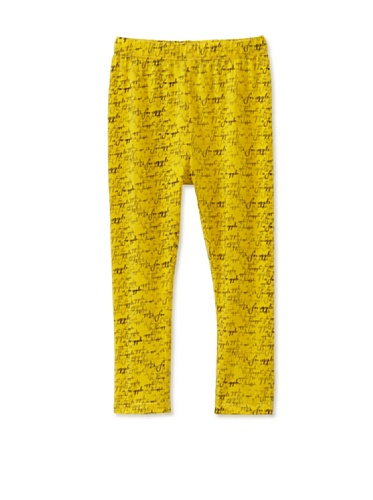A for Apple Ren Leggings with A For Apple Script (Yellow)
