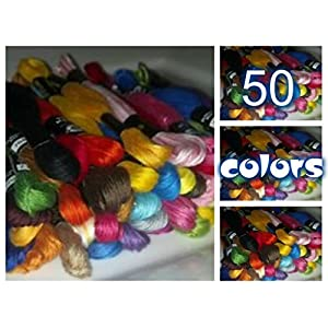 PART 2 New Range Of Embroidery Threads Cross Stitch By Tclindia 50 Colors 5 Pieces of Total 250 Pieces PART 2