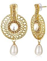 Ava Drop Earrings for Women (Golden) (E-VS-1916)