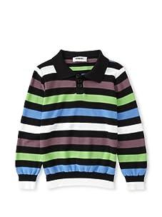 Sonia Rykiel Boys Polo Sweater (Black Multi)