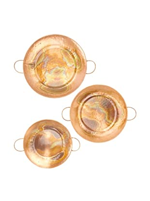 Set of 3 Multi Size Copper Trays
