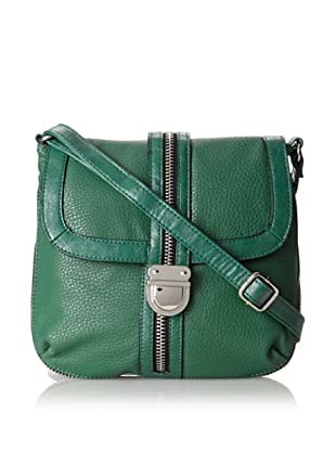 Kenneth Cole Reaction Women's Zip It to Me Small Cross-Body (Amazon Green)