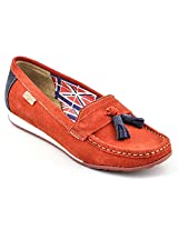 Lee Cooper Red And Blue Women Loafers LF9007