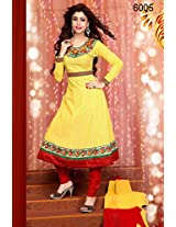 Khantil Yellow Designer And Fabulous Anarkali Suit