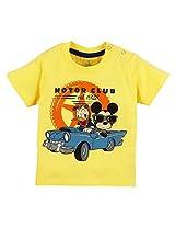 Walt Disney Infant Boys T-Shirt With Print, Yellow