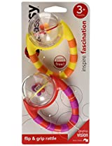 Sassy Flip and Grip Rattle (Multi color)