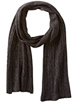 Haggar Men's Cable Knit Scarf, Charcoal, One Size