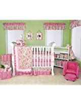 14 Pcs Paisley Park Trend Lab Pink Green Paisley Crib Bedding Set Nursery Ensemble Complete