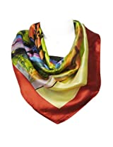 Wrapables Luxurious 100% Charmeuse Silk Square Scarf, Wassily Kandinsky's Houses in Munich