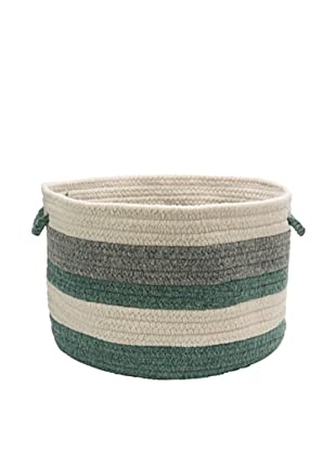 Colonial Mills Elliott Stripe Basket (Moss/Oatmeal/Natural)