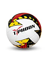 Nivia Typhoon Football, Size 5 (White)