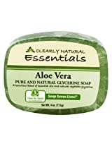 Clearly Natural Glycerine Soap, Aloe Vera - 4 Oz