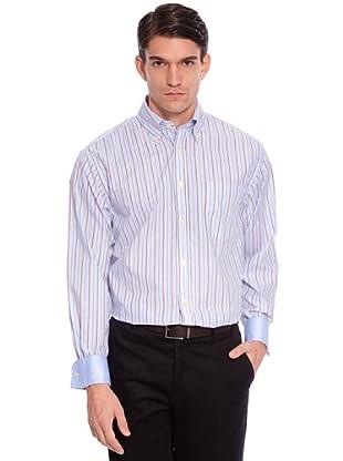 Hackett Camisa Rayas (Azul / Marrón / Blanco)
