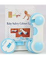 BABY SAFETY STRAP LATCH HOOK LOCK FOR WADROBE DOOR DRAWER & CABINETS 2 PCS
