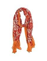 FUGEN Women's Wool Scarf (FF-2051, Red)