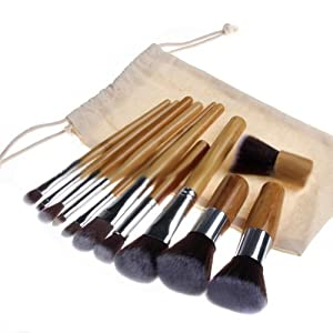 NSSTAR Pro Cosmetic Makeup Kabuki Brushes' Kit With Puch Holder Organizer