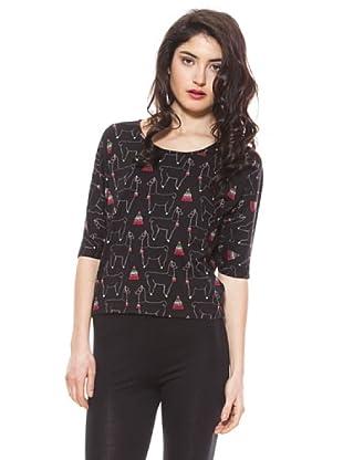 La Casita de Wendy Camiseta Estampado Llamas (negro)
