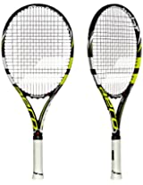 Babolat 140123-142 Aeropro Drive GT Strung Tennis Racquet, Grip 1 (Black/Yellow)