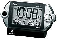 PYXIS (ピクシス) 目覚まし時計 ライデン デジタル 電波時計 大音量 NR522K
