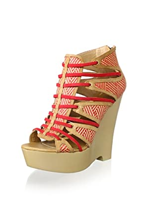 Australia Luxe Collective Women's Dali Wedge Pump (Tan/Poppy)