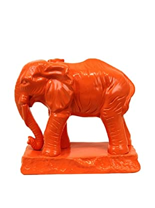 Urban Trends Ceramic Elephant (Orange)