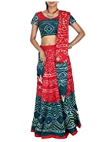 Rajrang Womens Cotton Classic Lehenga Cholis (Lhg00463 _Red _Long)