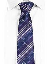 SPEAK Night Blue Striped & Dotted Tie