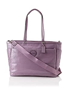 Coach Signature Patent Baby Bag, Lilac