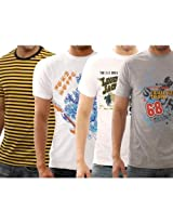 Funktees 100% Premium Cotton Small Size T-Shirts - Pack of 4